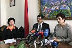 Главный секретарь национальной комиссии ЮНЭСКО в Армении Ваграм Кажоян и заместитель министра культуры Армении Арев Самуэлян