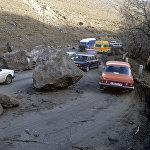 Автомобильная дорога Ленинакан-Спитак после землетрясения