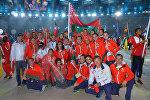 Белорусская сборная на церемонии завершения ОИ-2016