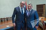 Министр спорта и молодёжи Армении Грачья Ростомян и Министр спорта и молодёжиГрузии Тариел Хечикашвили