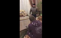 Миша Галустян с Кадыровым репетируют номер для КВН