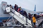 Самолет авиакомпании Победа в аэропорту Гюмри