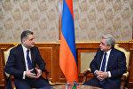 Президент Армении Серж Саргсян принял председателя коллегии Евразийской экономической комиссии (ЕЭК) Тиграна Саркисяна