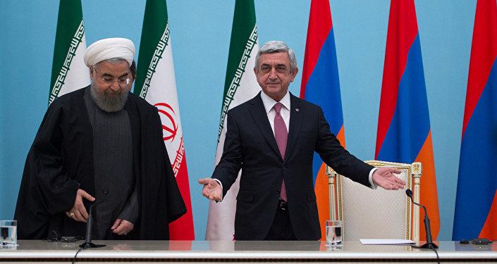 Серж Саргсян и Хасан Роухани