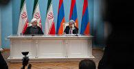 Встреча президентов Армении Сержа Саргсяна и президента ИРИ Хасана Роухани