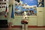 Бюст Андрея Стенина в его школе