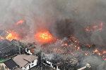 В японском городе Итоигава на западе страны загорелись более 140 зданий