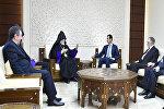 Президент Аль-Асад принял Киликийского Католикоса Армянской православной церкви Арама I Кешишяна