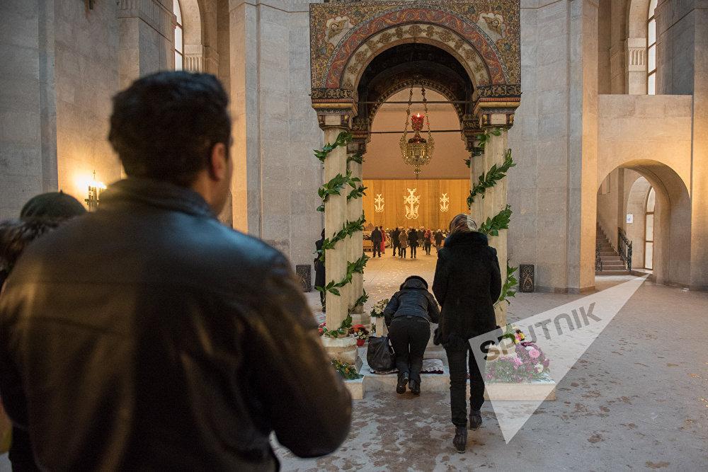 Рождественская служба в Ереване