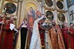 Рождественское богослужение в церкви Сурб Геворк в Тбилиси