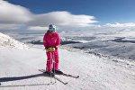 Надежда Оранская в Цахкадзоре катается на лыжах