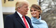Президент США Дональд Трамп с женой Меланией перед инаугурацией в Вашингтоне