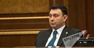 Заседание Национального собрания РА. Эдуард Шармазанов