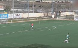 Испанский вратарь забил гол с 80 метров