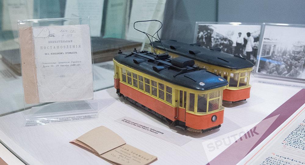 Музей истории Еревана, макет трамваев