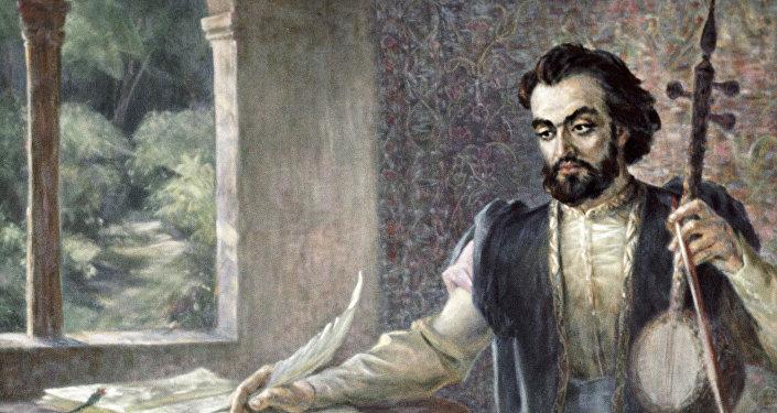 Репродукция портрета Саят-Нова