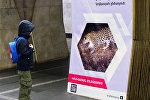 Выставка Король армянских гор – кавказский леопард  в армянском метро