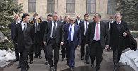 Спикер Госдумы России Вячеслав Володин с армянскими парламентариями