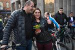 Акция Велосипедное 8 марта в Ереване. Грачья Ростомян