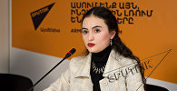 Рима Пипоян в пресс-центре Sputnik Армения