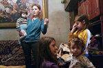 Сируш Барсегян с детьми