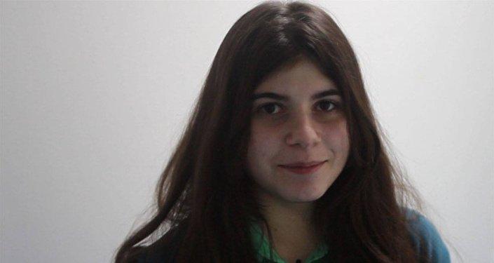 Участница международного вокального конкурса Ты супер! Сабина Манвелян из Армении