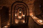 Храм тамплиеров в подземной пещере, город Шропшир, Англия