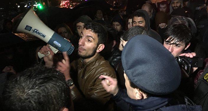 Акция протеста в Ереване в память об Артуре Саркисяне
