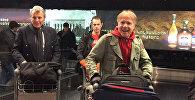Ричард Клайдерман в аэропорту Звартноц