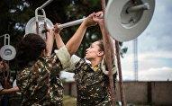 Девушки-кадеты в Карабахе
