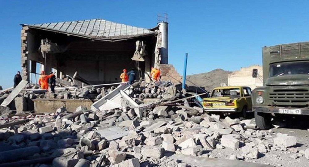 Вследствие взрыва в селе Нор Гех разрушена кислородная станция
