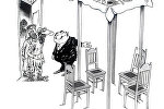 Карикатура. Лукуллов пир по-армянски