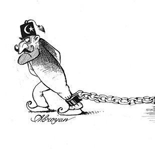 Карикатура. Тяжелое бремя Турции