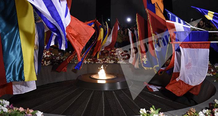 Факельное шествие в Ереване. 2017г.