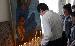 Сухумчане опустили на воду венки в память о жертвах геноцида армян