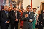 Выставка Возрождение армянского храма во Львове. Посол Польши в Армении Ежи Марек Новаковский