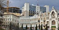 Вид на город Тбилиси с подъема по Пушкинской улице к Площади Свободы