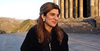 Иорданская принцесса Дина Майред посетила монастырский комплекс Гегард и языческий храм Гарни