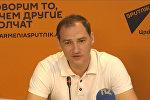 Пресс-конференция известного российского телеведущего  Романа Бабаяна в мультимедийном пресс-центре Sputnik Армения