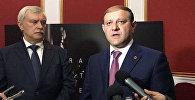 Встреча мэра Тарона Маргаряна с губернатором Санкт-Петербурга Георгием Полтавченко в рамках Дней Санкт-Петербурга в Ереване