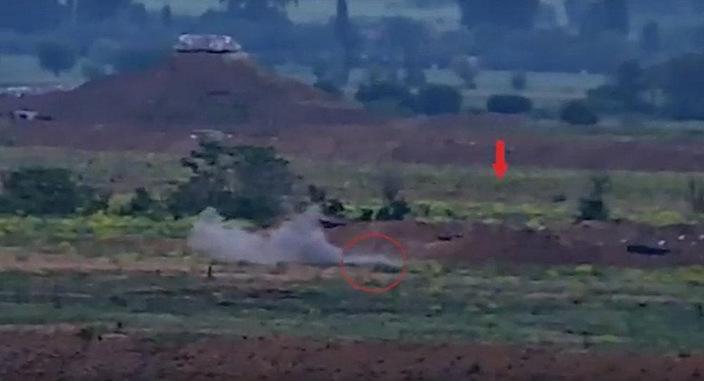 Азербайджан обстрелял собственные позиции