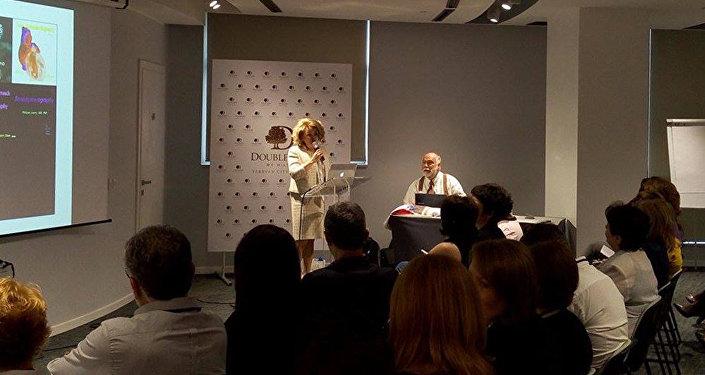 Вступительное слово первой леди Риты Саргсян перед лекцией всемирно известного профессора Филиппа Дженти