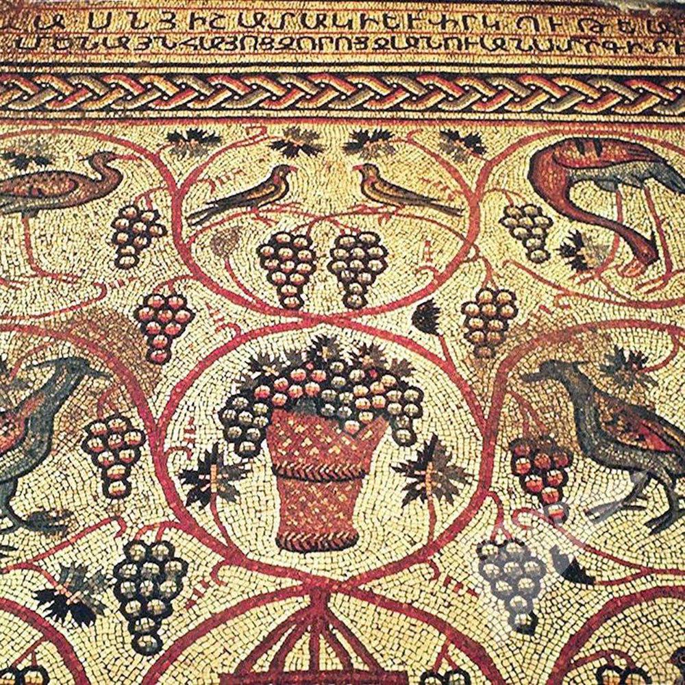 Древняя армянская мозаика в Иерусалиме