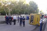 В Ереване перевернулся автобус