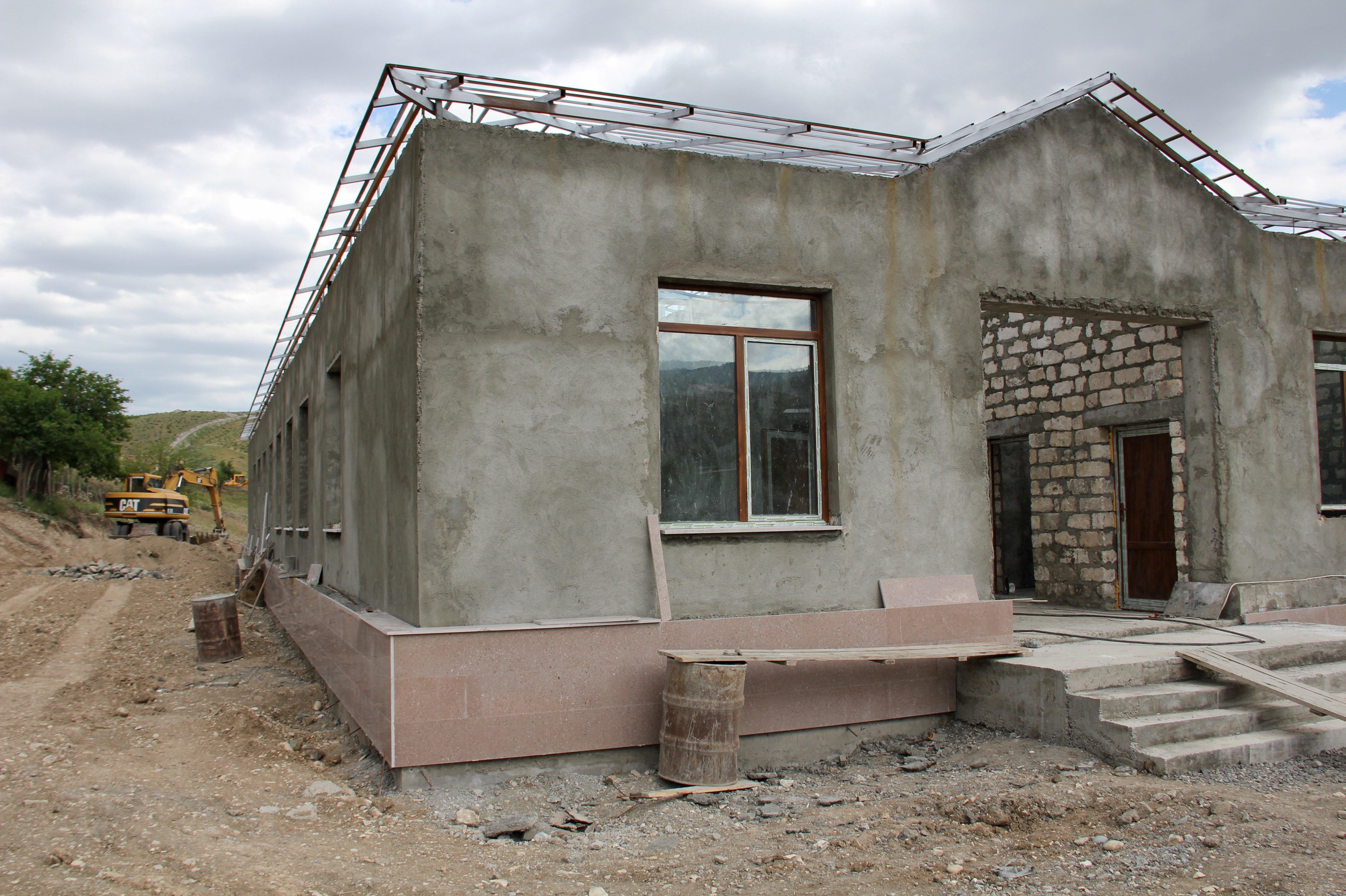 Строительство в селе Талыш, Нагорный Карабах