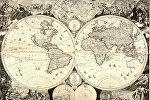 Карта мира Товмаса Ванандеци на армянском. Амстердам, 1695 год
