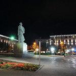 Площадь Гарегина Нжде в новом современном освещении