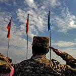 Учения на тему Подготовка и ведение операции по поддержанию мира Коллективными миротворческими силами ОДКБ в Кавказском регионе коллективной безопасности на полигоне Баграмян в Армении