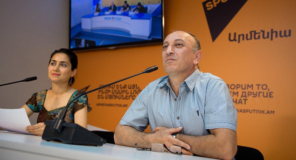 Пресс-конференция представителей московского футбольного клуба Арарат
