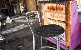 Пожар в ресторанном комплексе Старый Эривань